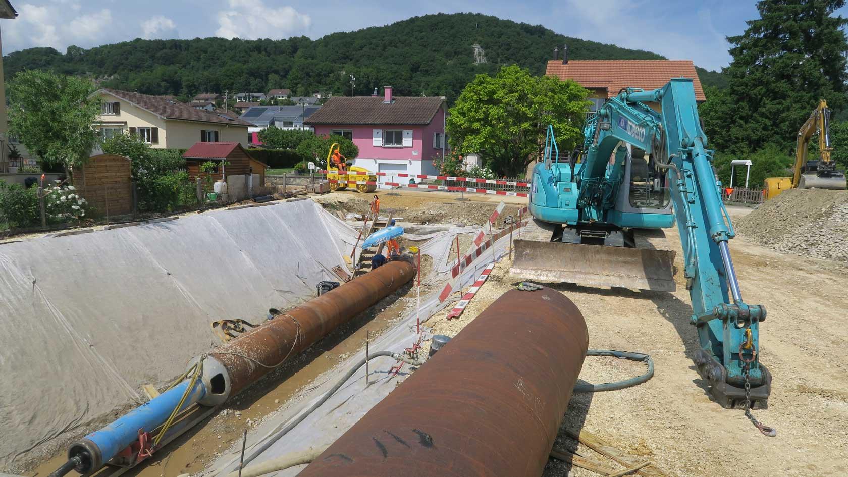 Delessert construction, travaux spéciaux, pousse tube